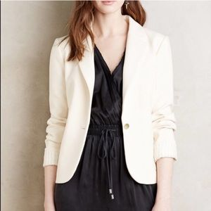 Cartonnier Anthropologie Cream Classic Blazer